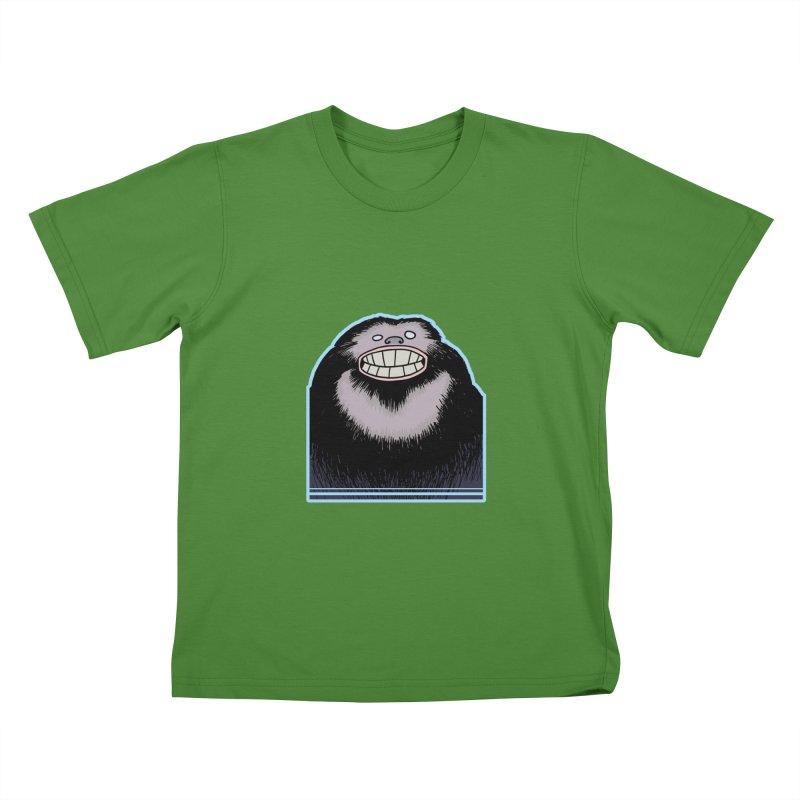 bigfoot Kids T-Shirt by fireawaymarmotproductions's Artist Shop