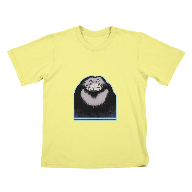 bigfoot Kids T-shirt by fireawaymarmotproductions's Artist Shop