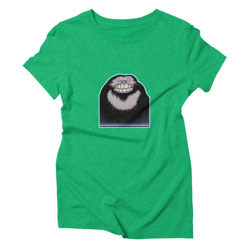bigfoot Women's Triblend T-Shirt by fireawaymarmotproductions's Artist Shop