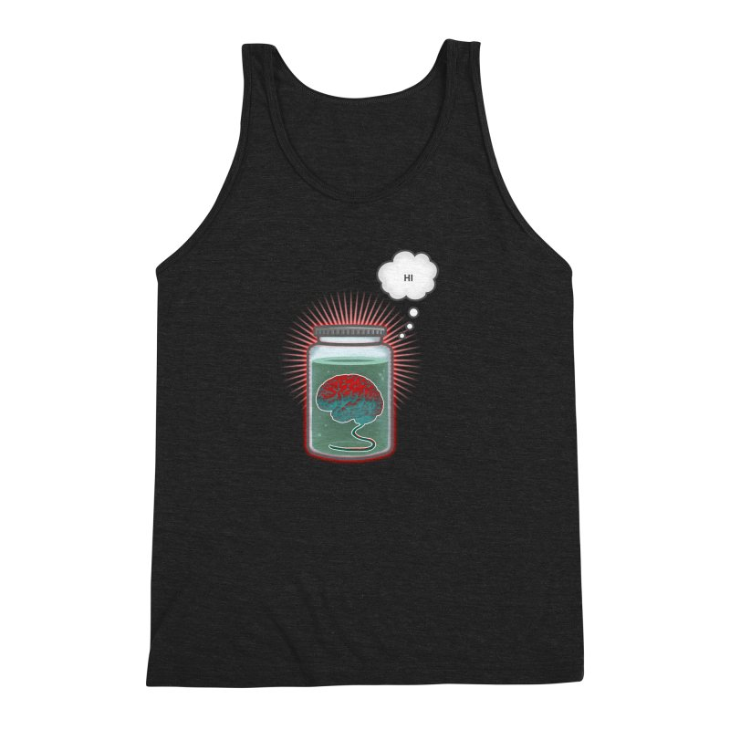 Just Because I'm a Brain In a Jar Doesn't Mean We Can't Be Friends Men's Triblend Tank by fireawaymarmotproductions's Artist Shop