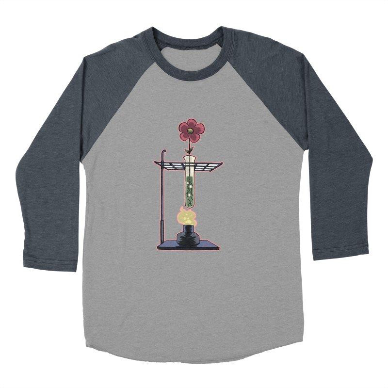 Bunsen Burner Flower Men's Baseball Triblend T-Shirt by fireawaymarmotproductions's Artist Shop