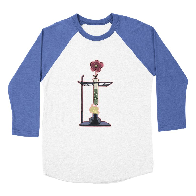 Bunsen Burner Flower Men's Baseball Triblend T-Shirt by fireawaymarmotproductions's Artist Shop