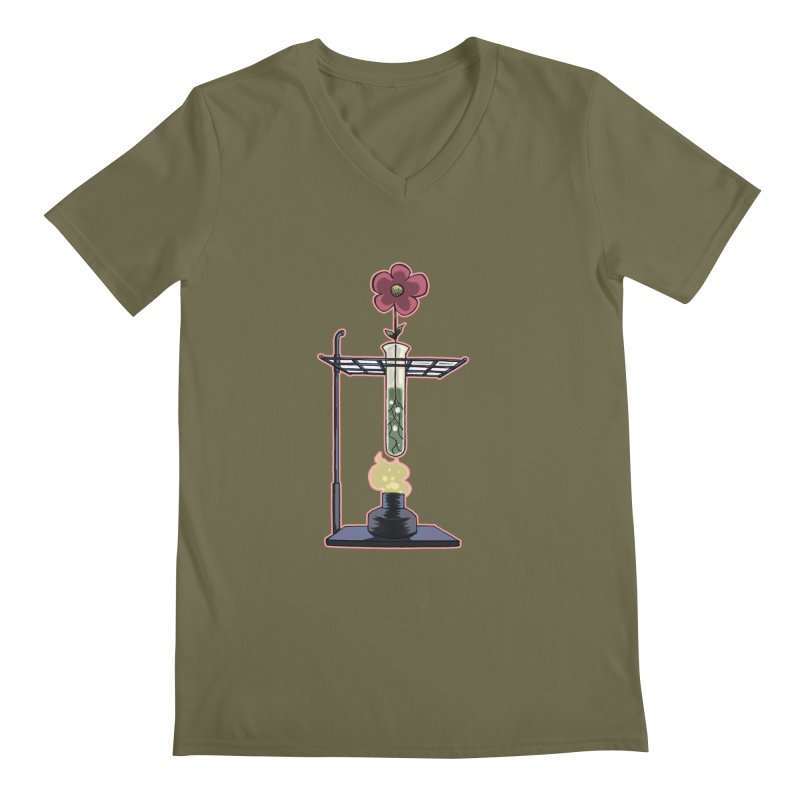 Bunsen Burner Flower Men's V-Neck by fireawaymarmotproductions's Artist Shop