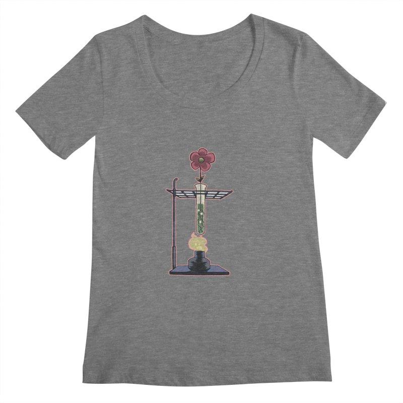 Bunsen Burner Flower Women's Scoopneck by fireawaymarmotproductions's Artist Shop
