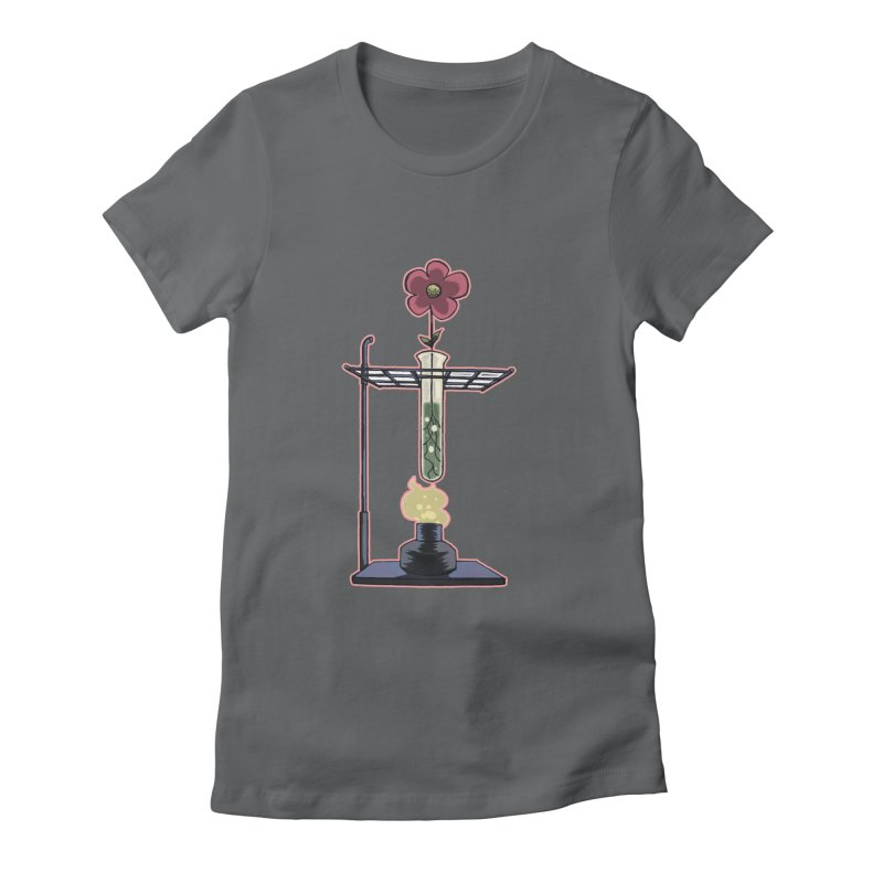 Bunsen Burner Flower Women's Fitted T-Shirt by fireawaymarmotproductions's Artist Shop