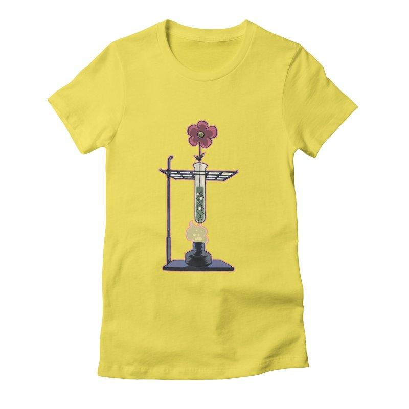 Bunsen Burner Flower Women's Fitted T-Shirt by fireawaymarmotproductions's Artist Shop
