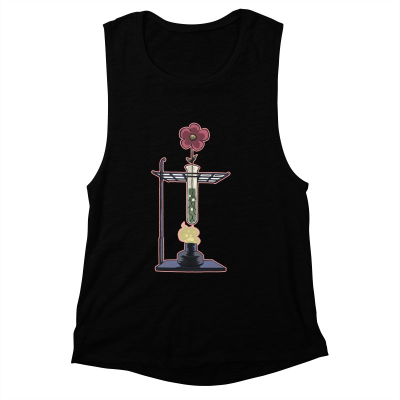 Bunsen Burner Flower Women's Muscle Tank by fireawaymarmotproductions's Artist Shop