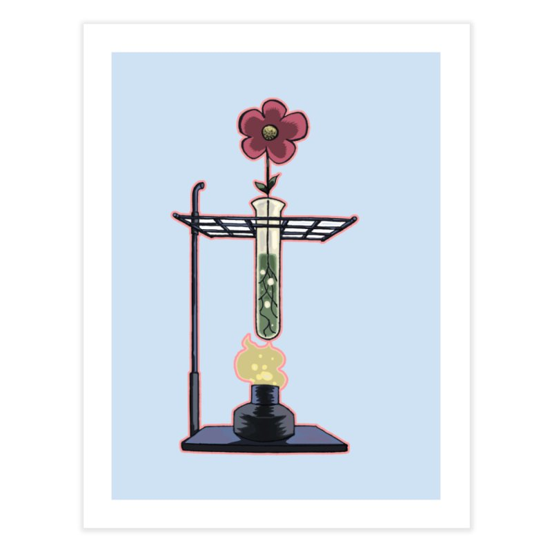 Bunsen Burner Flower Home Fine Art Print by fireawaymarmotproductions's Artist Shop