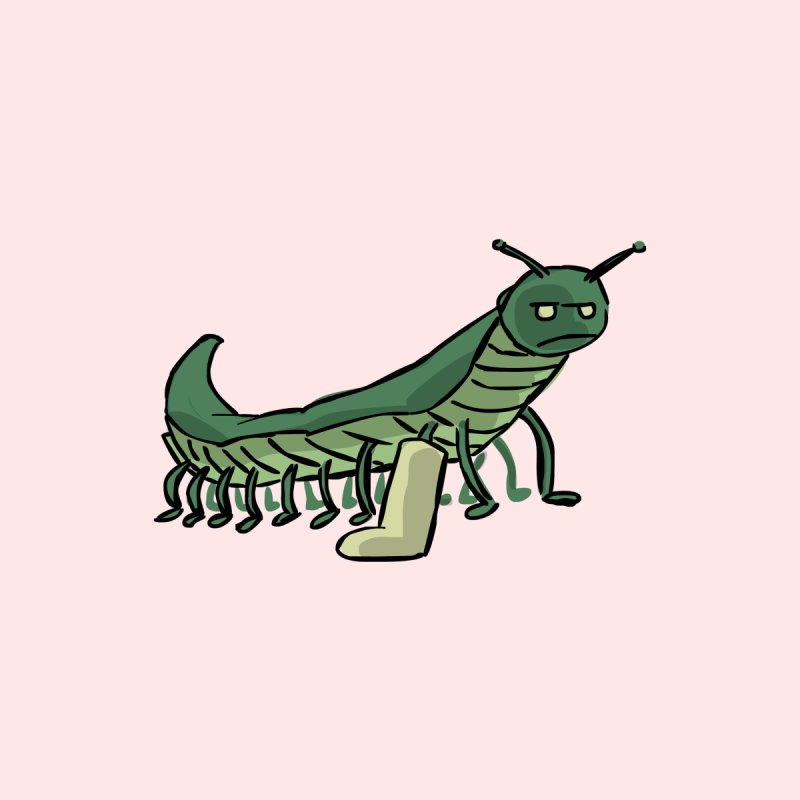 Broken Leg Caterpillar by fireawaymarmotproductions's Artist Shop