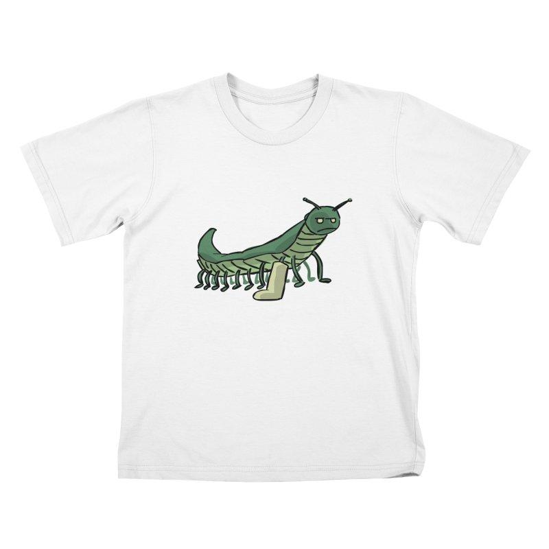 Broken Leg Caterpillar Kids T-Shirt by fireawaymarmotproductions's Artist Shop
