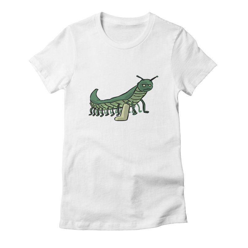 Broken Leg Caterpillar Women's Fitted T-Shirt by fireawaymarmotproductions's Artist Shop