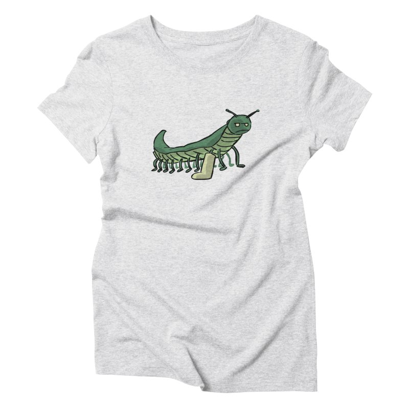 Broken Leg Caterpillar Women's Triblend T-Shirt by fireawaymarmotproductions's Artist Shop
