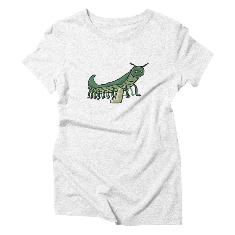 Broken Leg Caterpillar Women's Triblend T-shirt by fireawaymarmotproductions's Artist Shop