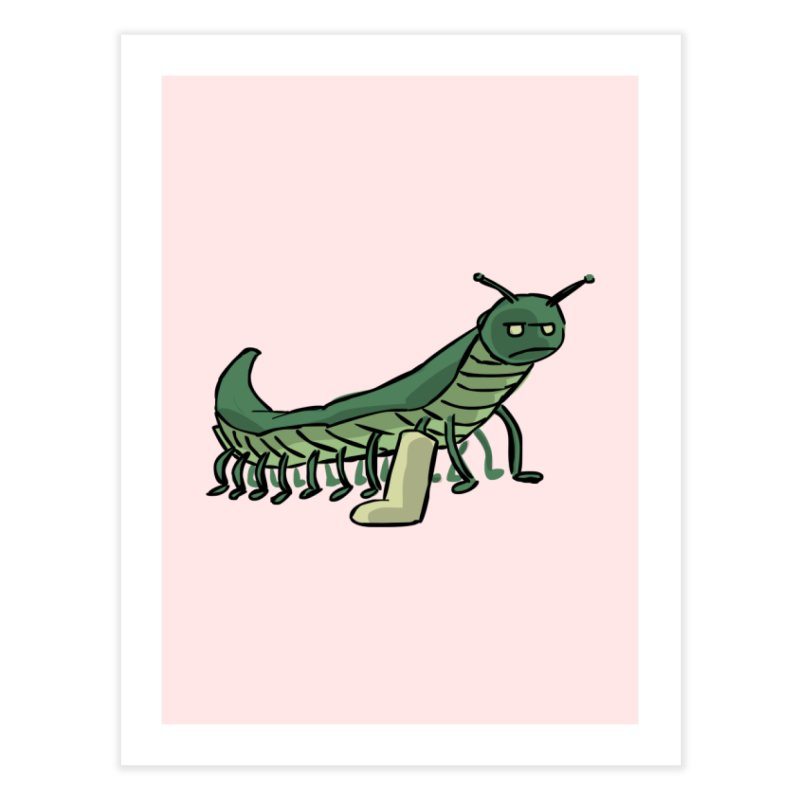 Broken Leg Caterpillar Home Fine Art Print by fireawaymarmotproductions's Artist Shop
