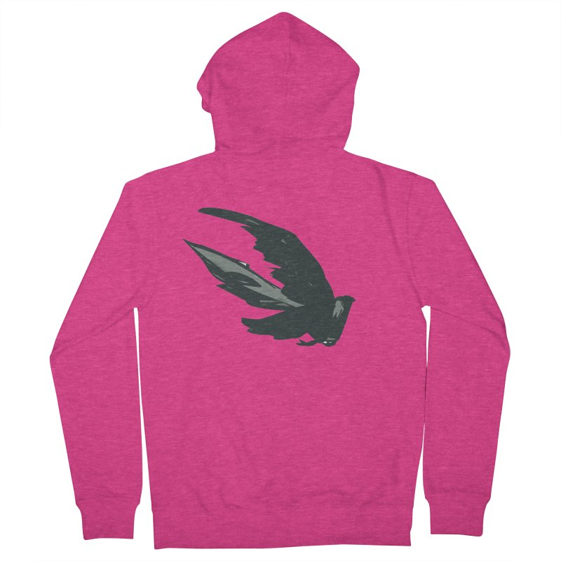 Bird in Flight Women's Zip-Up Hoody by fireawaymarmotproductions's Artist Shop