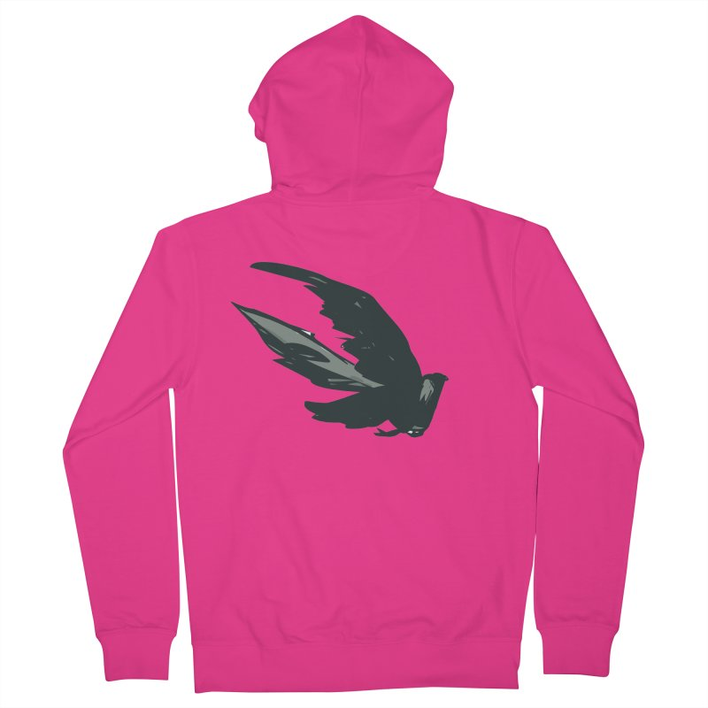 Bird in Flight Men's Zip-Up Hoody by fireawaymarmotproductions's Artist Shop