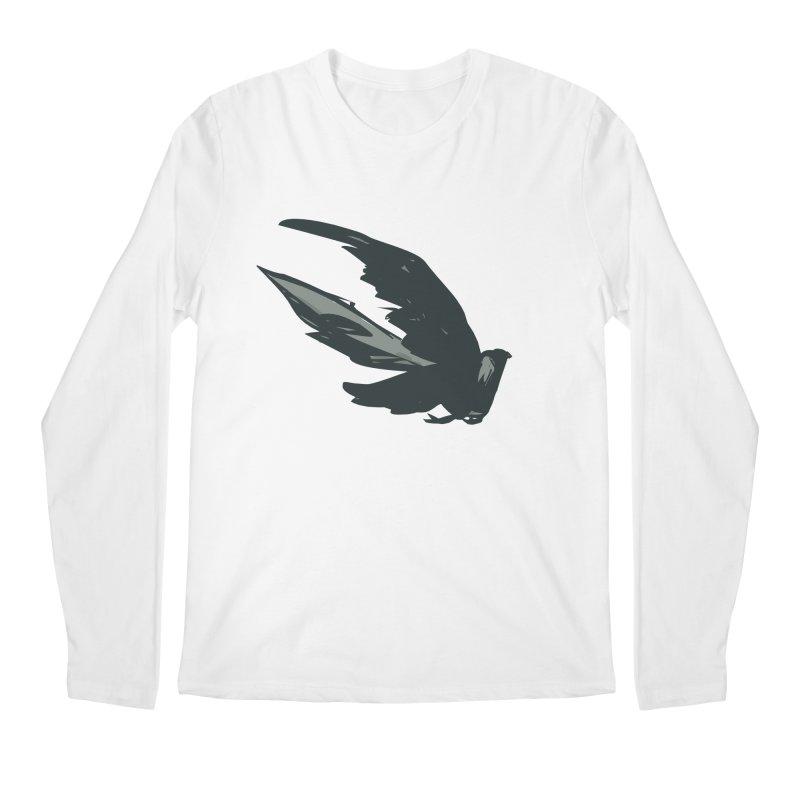 Bird in Flight Men's Regular Longsleeve T-Shirt by fireawaymarmotproductions's Artist Shop