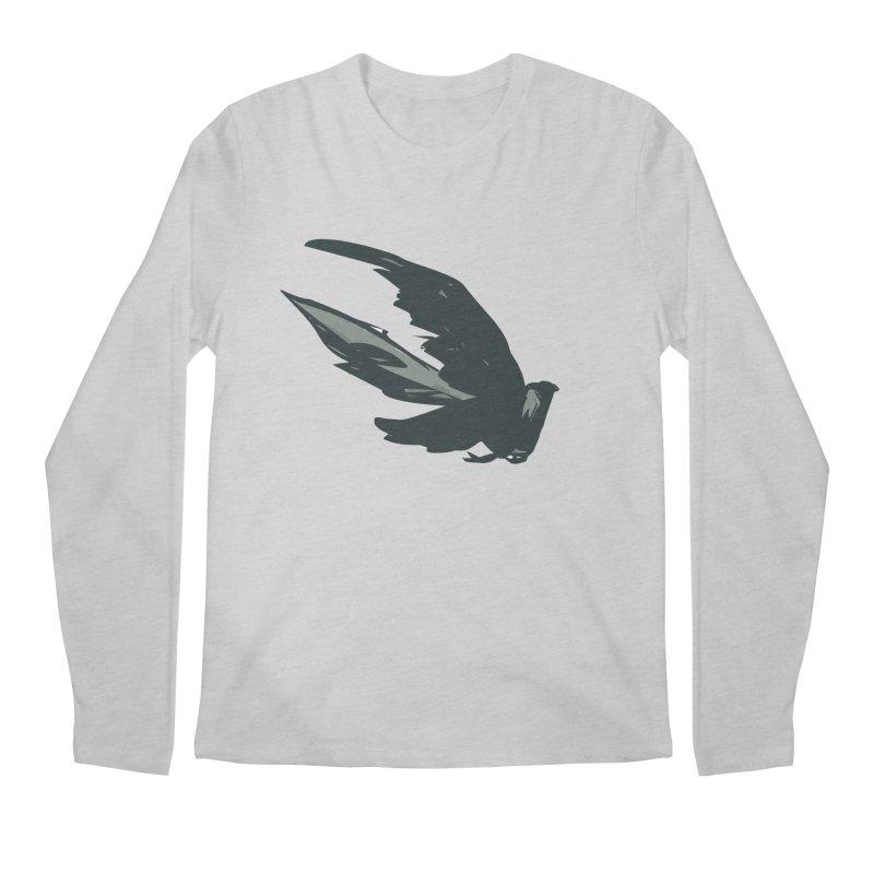 Bird in Flight Men's Longsleeve T-Shirt by fireawaymarmotproductions's Artist Shop