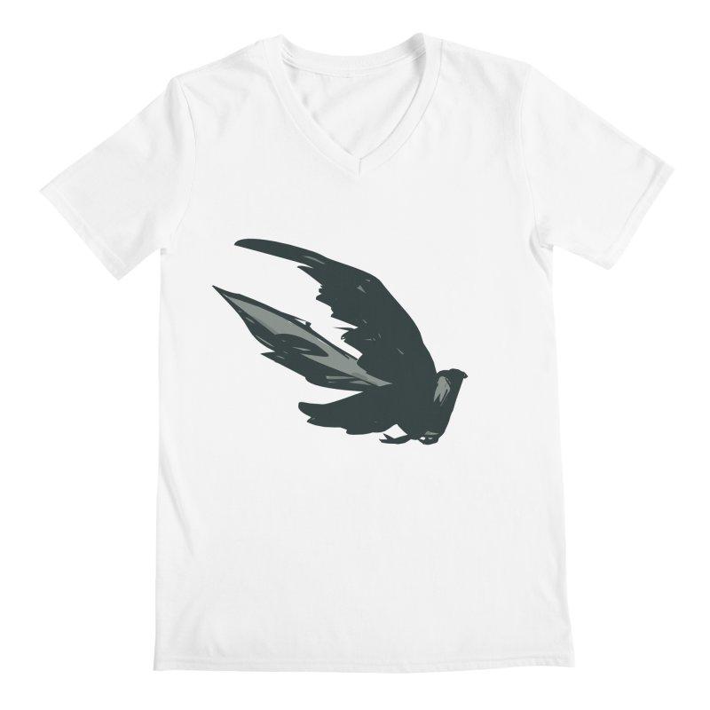 Bird in Flight Men's V-Neck by fireawaymarmotproductions's Artist Shop