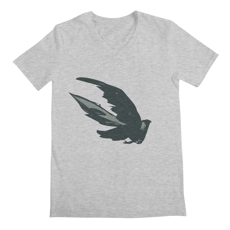 Bird in Flight Men's V-Neck by fireawaymarmotproductions's Artist Shop