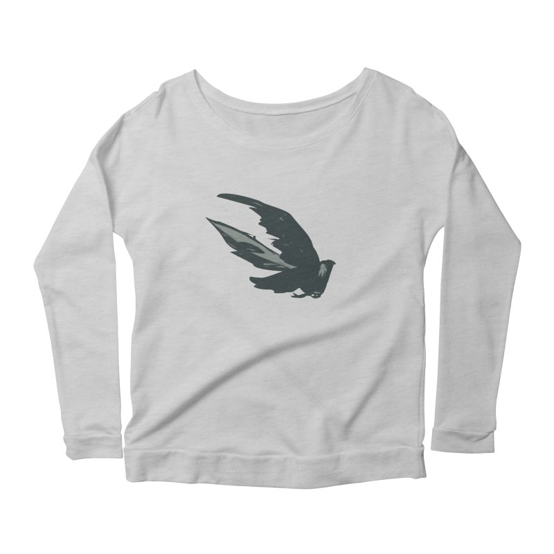Bird in Flight Women's Longsleeve Scoopneck  by fireawaymarmotproductions's Artist Shop