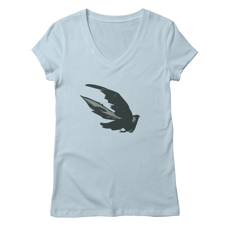 Bird in Flight Women's V-Neck by fireawaymarmotproductions's Artist Shop