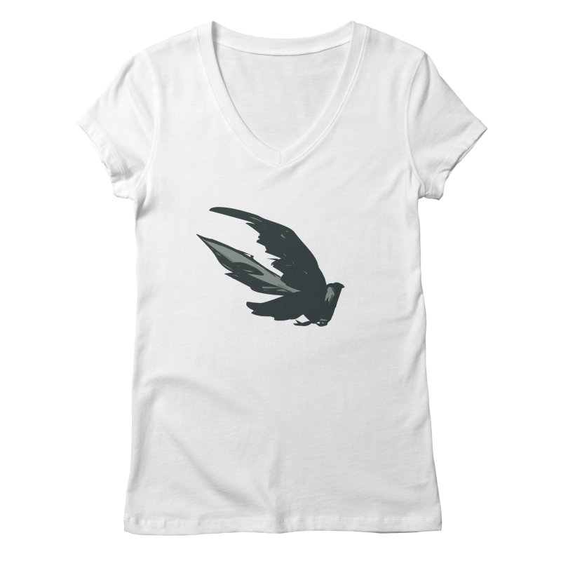 Bird in Flight Women's V-Neck by fireawaymarmotproductions's Artist Shop