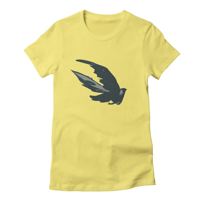 Bird in Flight Women's Fitted T-Shirt by fireawaymarmotproductions's Artist Shop