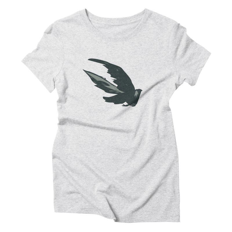 Bird in Flight Women's Triblend T-Shirt by fireawaymarmotproductions's Artist Shop