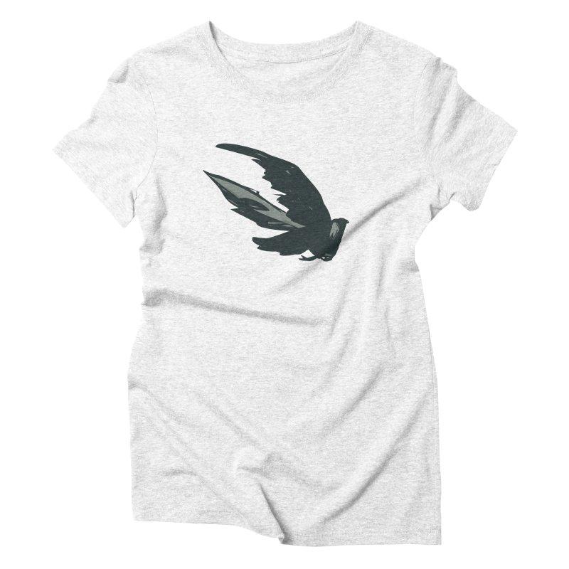 Bird in Flight Women's Triblend T-shirt by fireawaymarmotproductions's Artist Shop