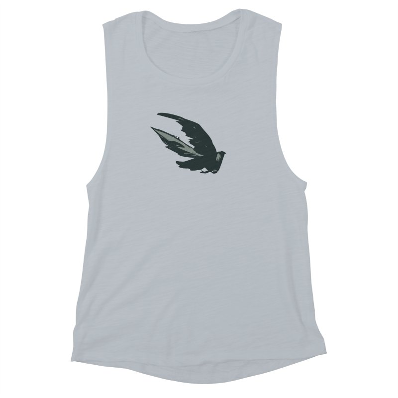Bird in Flight Women's Muscle Tank by fireawaymarmotproductions's Artist Shop