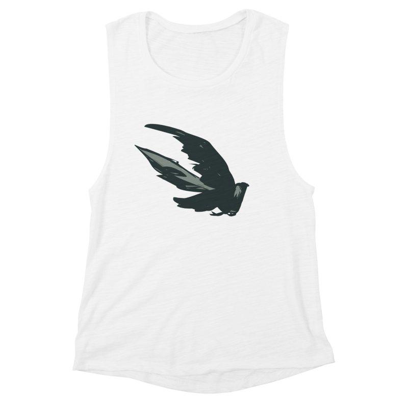 Bird in Flight Women's Muscle Tank by fireawaymarmotproductions's Artist Shop