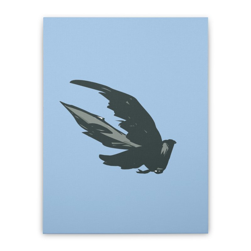 Bird in Flight Home Stretched Canvas by fireawaymarmotproductions's Artist Shop