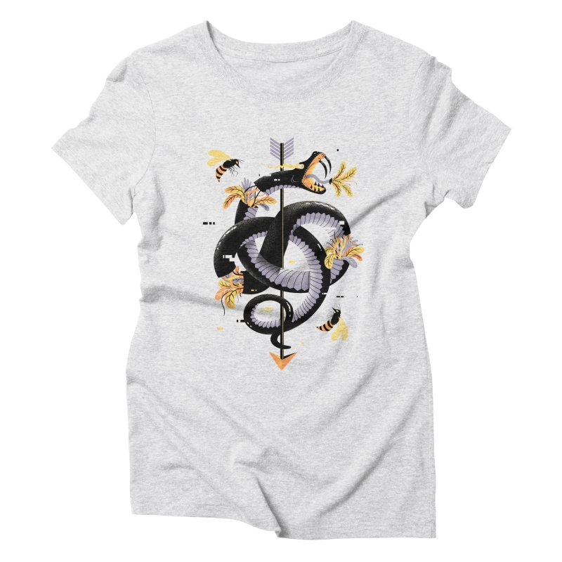 Pixel Snake Women's Triblend T-Shirt by Pierre's Artist Shop