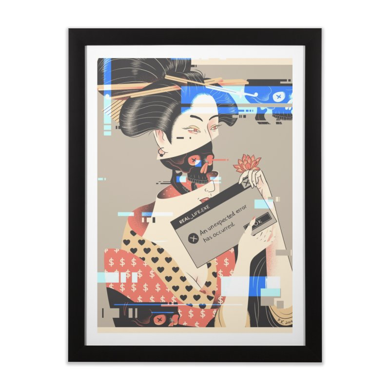 Unexpected Error - poster Home Framed Fine Art Print by Pierre's Artist Shop