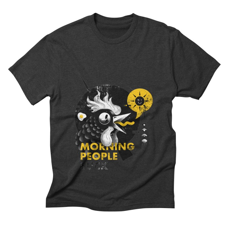 Morning People Tshirt & poster Men's Triblend T-Shirt by Pierre's Artist Shop