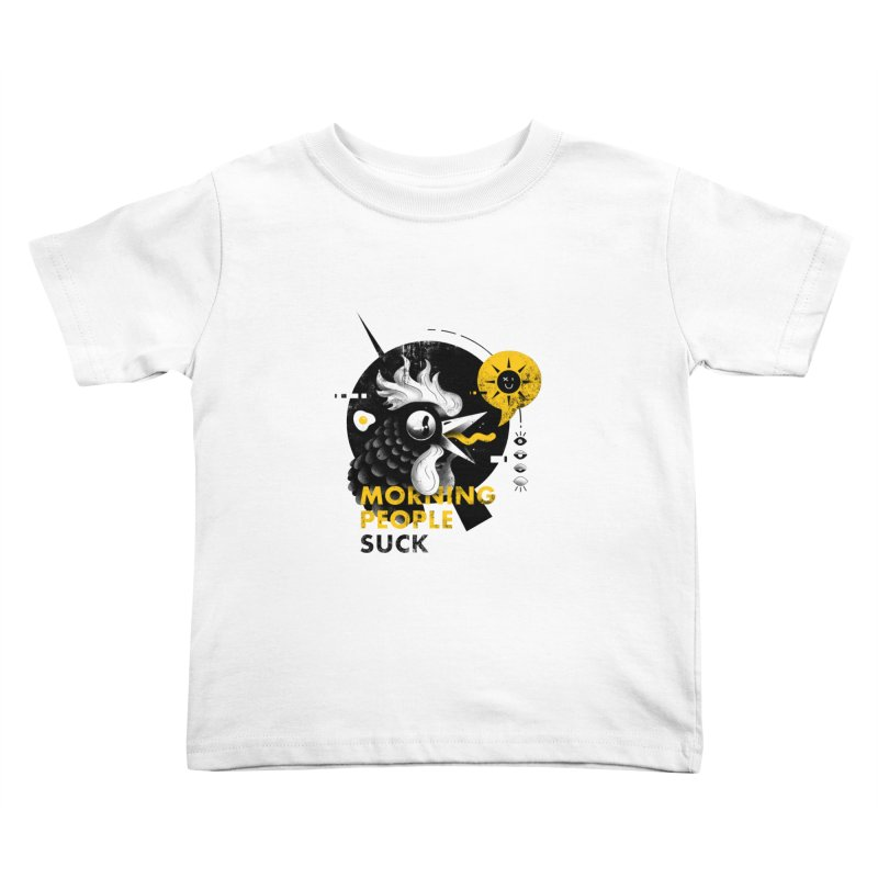 Morning People Tshirt & poster Kids Toddler T-Shirt by Pierre's Artist Shop