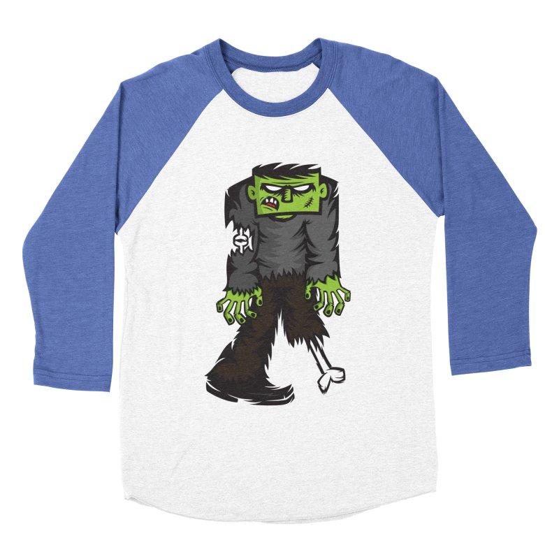 Zombie Men's Baseball Triblend T-Shirt by firehat45's Artist Shop