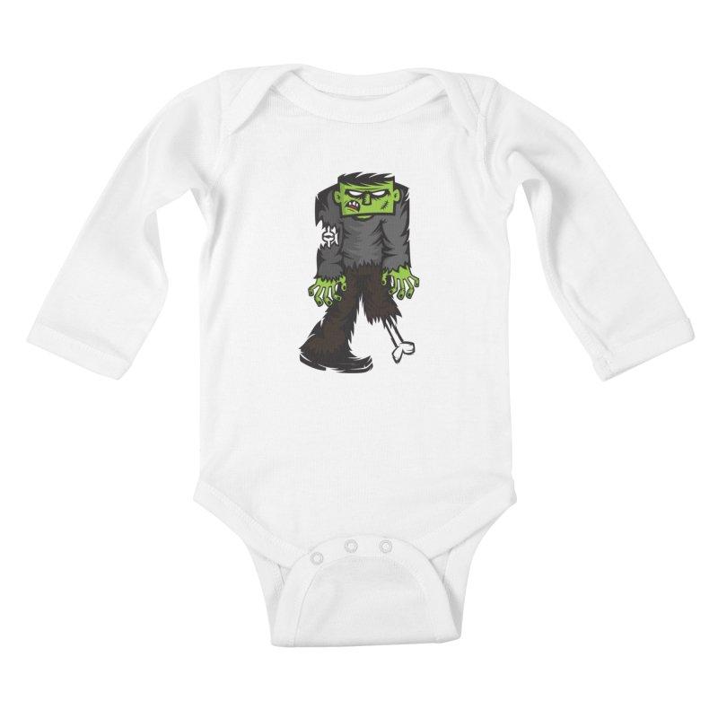 Zombie Kids Baby Longsleeve Bodysuit by firehat45's Artist Shop