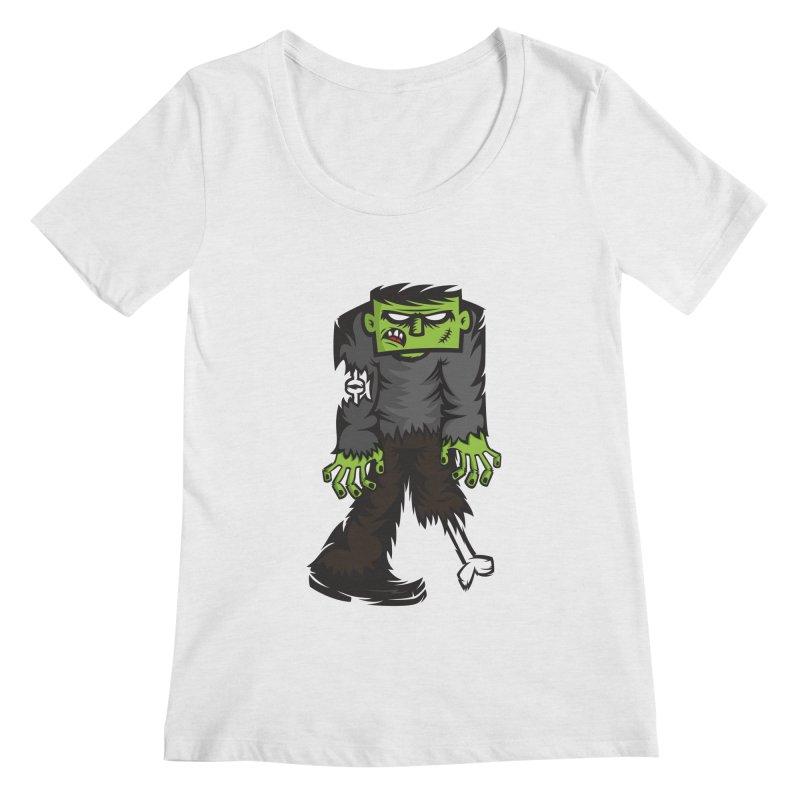Zombie Women's Scoopneck by firehat45's Artist Shop