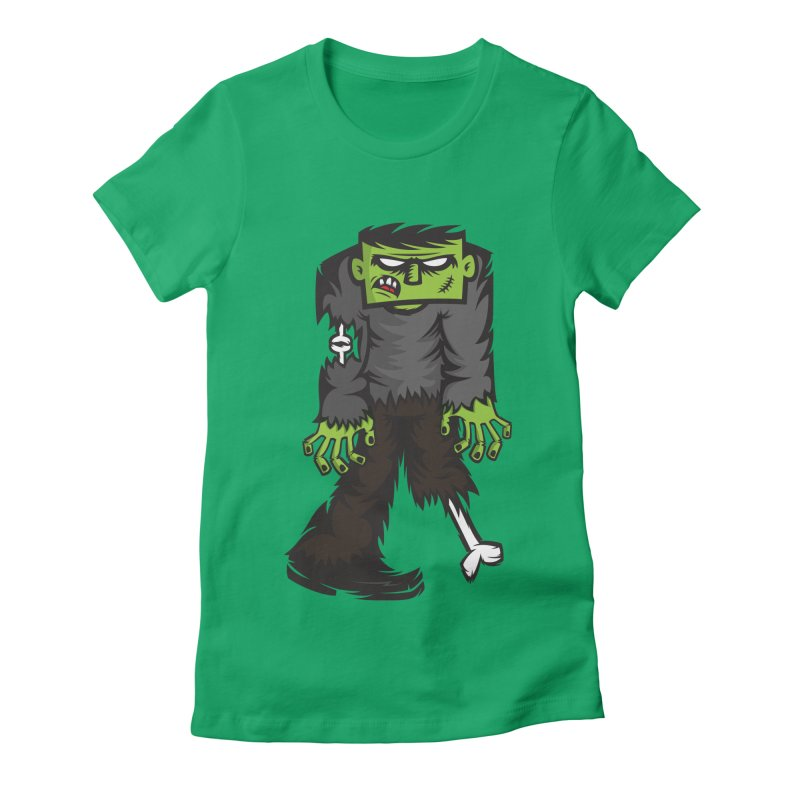 Zombie Women's Fitted T-Shirt by firehat45's Artist Shop