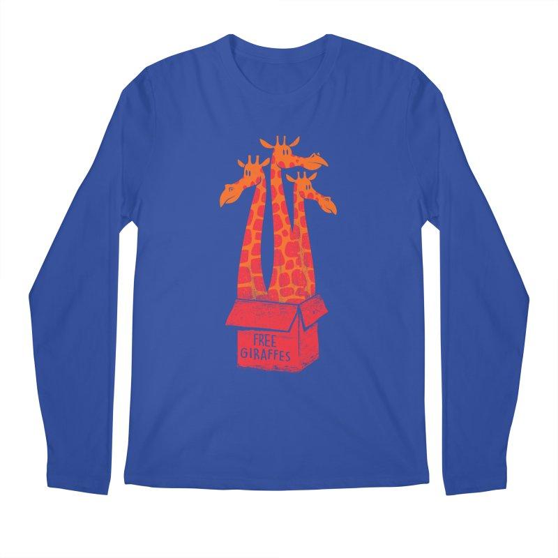 Free Giraffes Men's Longsleeve T-Shirt by firehat45's Artist Shop