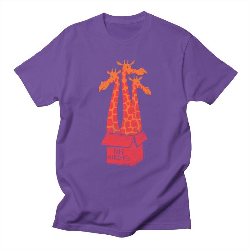 Free Giraffes Men's T-Shirt by firehat45's Artist Shop