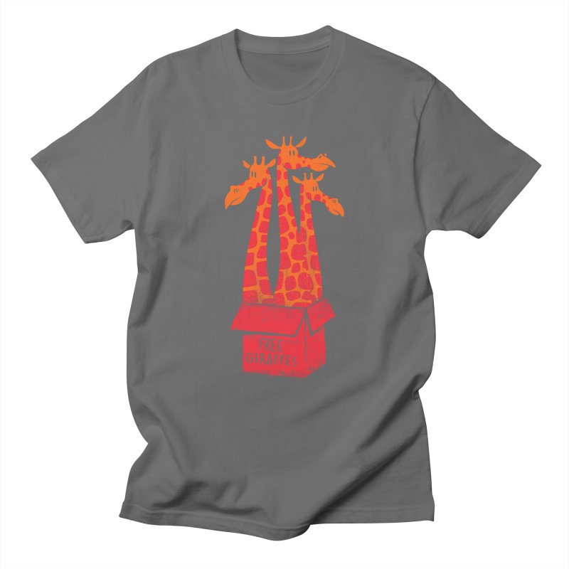 Free Giraffes Men's T-shirt by firehat45's Artist Shop