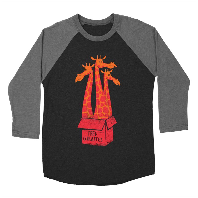 Free Giraffes Women's Baseball Triblend T-Shirt by firehat45's Artist Shop