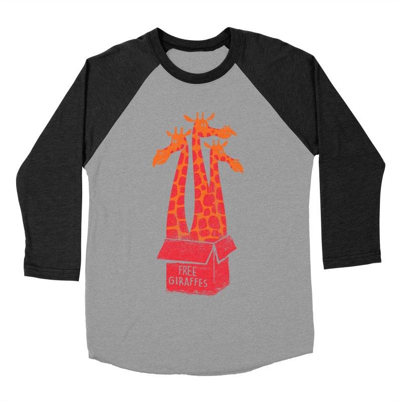 Free Giraffes Men's Baseball Triblend T-Shirt by firehat45's Artist Shop