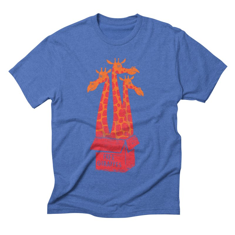 Free Giraffes Men's Triblend T-shirt by firehat45's Artist Shop