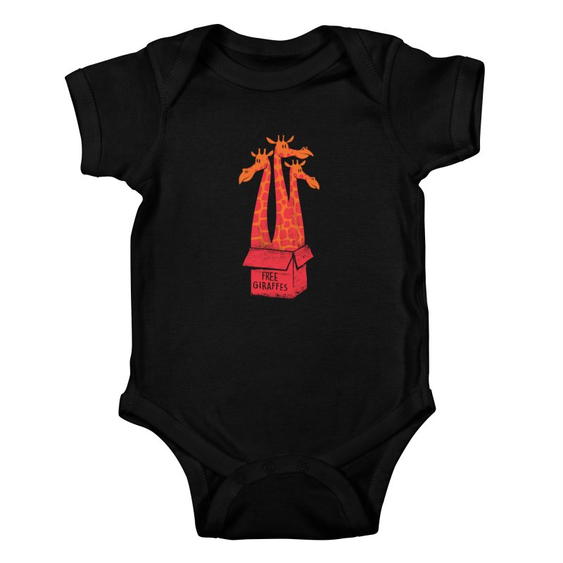 Free Giraffes Kids Baby Bodysuit by firehat45's Artist Shop