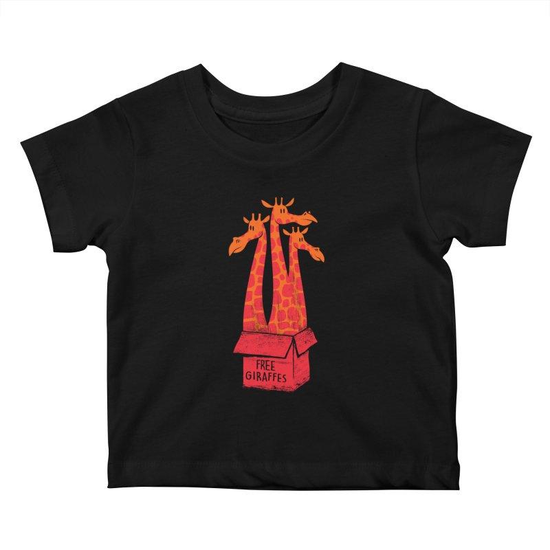 Free Giraffes Kids Baby T-Shirt by firehat45's Artist Shop