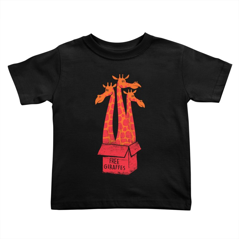 Free Giraffes Kids Toddler T-Shirt by firehat45's Artist Shop